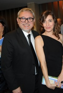 "Jordi Frades, director of the Spanish show ""Isabel"" and the Catalan actress Maria Fontanals."